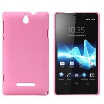 Hardcase hoesje roze Sony Xperia E