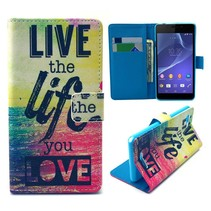 Life quote Bookcase hoes Sony Xperia E3