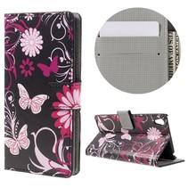 Vlinders Bookcase Hoesje Sony Xperia E5