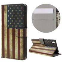 Amerikaanse Vlag Bookcase Hoesje Sony Xperia E5