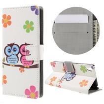 Uil Koppel Bookcase Hoesje Sony Xperia E5