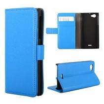 Blauw Booktype  hoesje Sony Xperia J