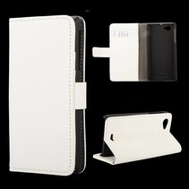 Wit Booktype  hoesje Sony Xperia J