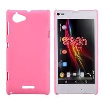 Roze hardcase hoesje Sony Xperia L