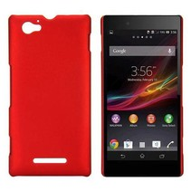 Rood hardcase hoesje Sony Xperia M