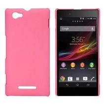 Roze hardcase hoesje Sony Xperia M