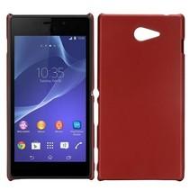 Rood hardcase hoesje Sony Xperia M2
