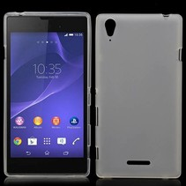 Wit / transparant TPU hoesje Sony Xperia T3