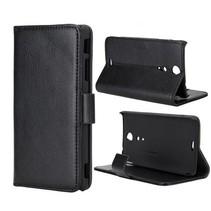 Leder Bookcase hoesje zwart Sony Xperia GX / TX