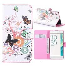 Vlinders Bookcase Hoesje Sony Xperia XA