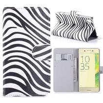 Zebra Bookcase Hoesje Sony Xperia X