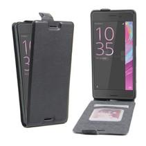 Zwart Flip Case Hoesje Sony Xperia X Performance