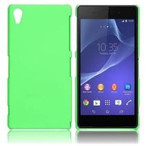 Mat groen hardcase hoesje Sony Xperia Z2