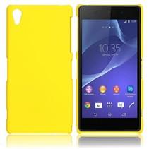 Mat geel hardcase hoesje Sony Xperia Z2