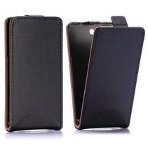 Zwart Flip Case hoesje Sony Xperia Z3 Compact
