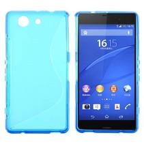 Blauwe S-design TPU hoesje Sony Xperia Z3 Compact
