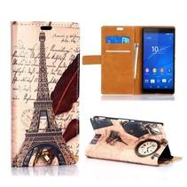 Eiffeltoren Bookcase hoes Sony Xperia Z3 Plus