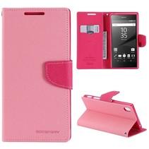 Goospery Roze Bookcase Hoesje Sony Xperia Z5 Premium
