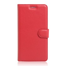 Rood Litchi Bookcase Hoesje Wiko Lenny 3