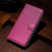 Roze lychee Bookcase hoes Wiko Lenny