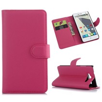 Roze lychee Bookcase hoes ZTE Blade L3