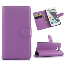 Paarse lychee Bookcase hoes ZTE Blade L3