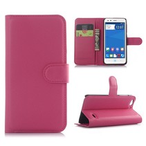Roze lychee Bookcase hoes ZTE Blade S6