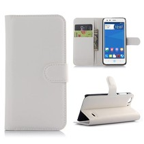 Witte lychee Bookcase hoes ZTE Blade S6