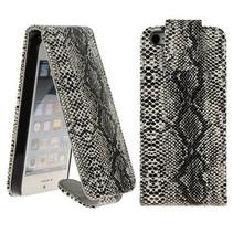 Slangenleer Flip Case hoes iPhone 5 / 5s / SE