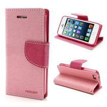 Mercury roze 3-in-1 Bookcase hoesje iPhone 5 / 5s / SE