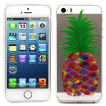 Kleurrijke ananas TPU hoesje iPhone 5 / 5s / SE