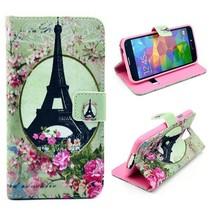 Eiffeltoren Bookcase hoesje Galaxy S5 / Plus / Neo