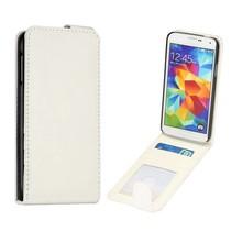 Wit Flip Case hoesje Galaxy S5 / Plus / Neo