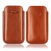 Bruin faux leder insteekhoesje Galaxy S5 / Plus / Neo