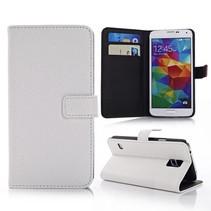 Lychee wit Booktype  hoesje Galaxy S5 / Plus / Neo