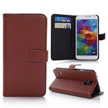 Lychee bruin Booktype  hoesje Galaxy S5 / Plus / Neo