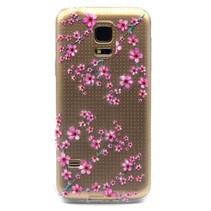 Roze bloemetjes TPU hoesje Galaxy S5 / Plus / Neo