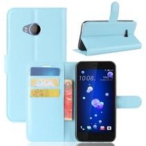 Litchee Booktype Hoesje HTC U11 Life - Lichtblauw