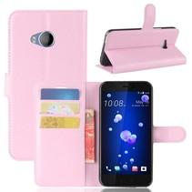 Litchee Booktype Hoesje HTC U11 Life - Roze