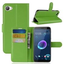 Litchee Booktype Hoesje HTC Desire 12 - Groen