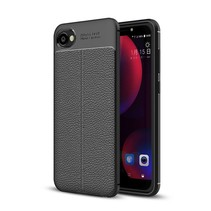 Litchee TPU Hoesje HTC Desire 12 - Zwart