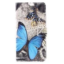 Booktype Hoesje Samsung Galaxy S8 Plus - Blauwe vlinder