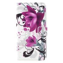 Booktype Hoesje Samsung Galaxy S8 Plus - Paarse Bloem