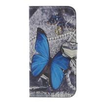 Booktype Hoesje Samsung Galaxy J3 (2017) - Blauwe vlinder
