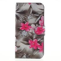 Booktype Hoesje Samsung Galaxy J7 (2017) - Roze Bloemen
