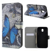 Booktype Hoesje Samsung Galaxy J5 (2017) - Blauwe vlinder