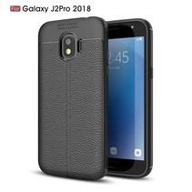 Litchee TPU Hoesje Samsung Galaxy J2 Pro 2018 - Zwart