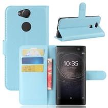 Litchee Booktype Hoesje Sony Xperia XA2 - Blauw