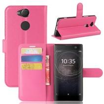 Litchee Booktype Hoesje Sony Xperia XA2 - Roze
