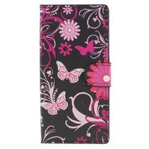 Booktype Hoesje Sony Xperia XA2 - Roze Vlinders